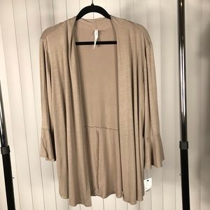 NY Collection Cardigan with 3/4 Bell Sleeves NWT
